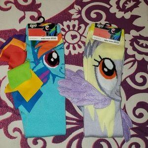 2 prs My Little Pony Novelty Knee socks